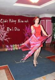 корейский танец с шалью