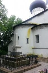 Святогорский монастырь. Могила Пушкина .