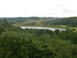 Изборск. Вид на озеро из крепости.