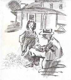 "Моя иллюстрация к книге В.Набокова ""Лолита"""