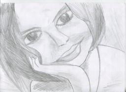 Мой карандашный набросок к портрету Леси.